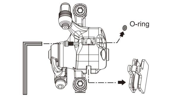 テクトロディスクブレーキのパッド交換方法