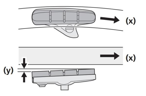 キャリパーブレーキのブレーキシュー位置調整方法