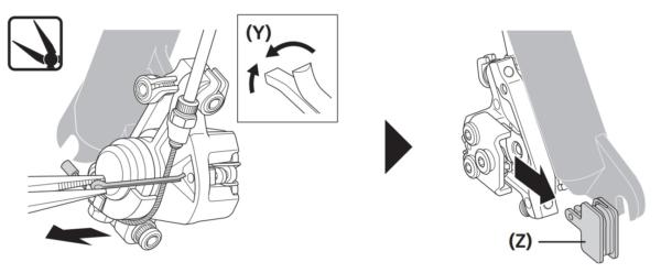 ディスクブレーキのパッド交換方法