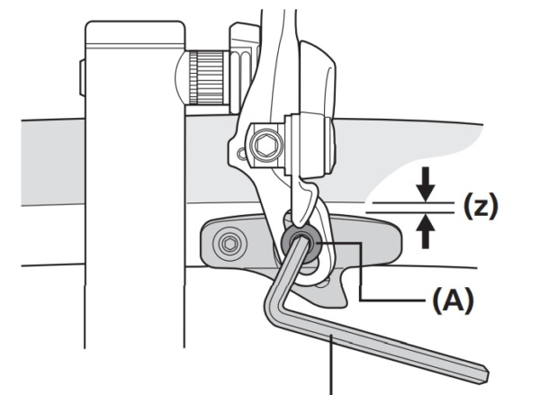 キャリパーブレーキのシュー固定方法
