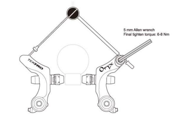 カンチブレーキのケーブル調整方法
