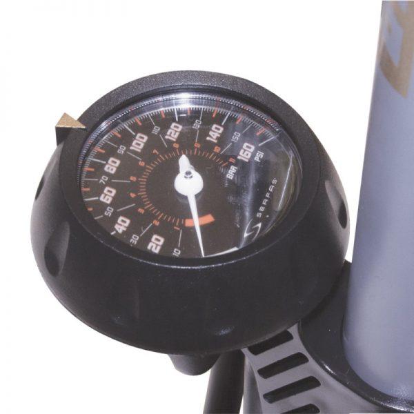フロアポンプの空気圧計