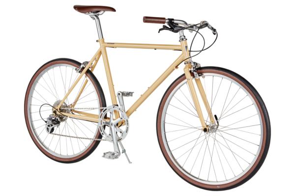 ベージュのクロスバイク