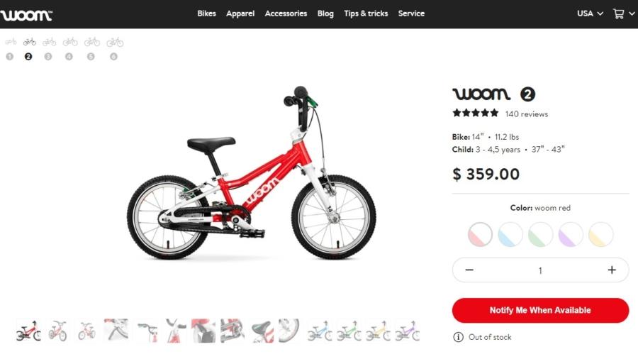 voom2 14inch 3years bike